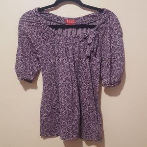 Elle Purple Rose Floral Blouse